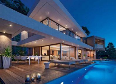 Immobilier espagne maison villa haut de gamme bord de for Villa avec piscine espagne