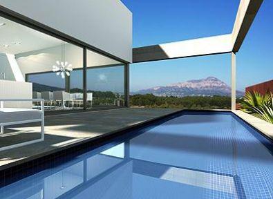 immobilier espagne maison villa 350m 5 chambres villa avec architecture moderne haut de. Black Bedroom Furniture Sets. Home Design Ideas